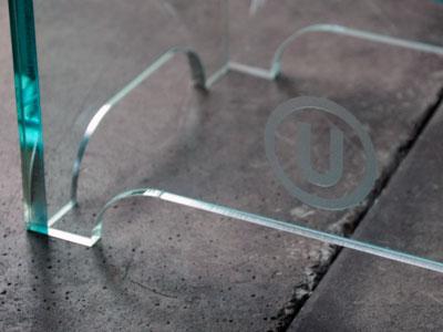 磨ガラス調ネーム装飾