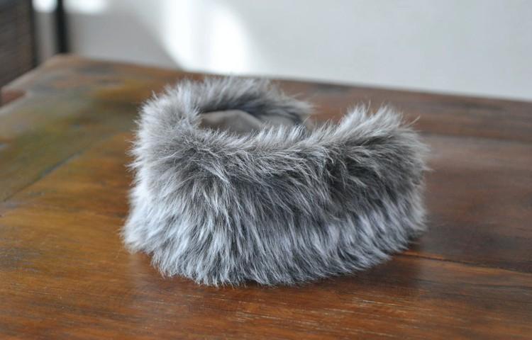 モハモハチョーク短毛種:セピア(フェイクファー首輪)